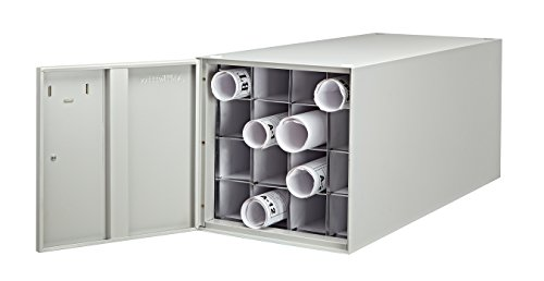 Adir Stackable Steel 16 Roll File (for Rolls up to 37 Inches Long) Horizontal Storage Cabinet