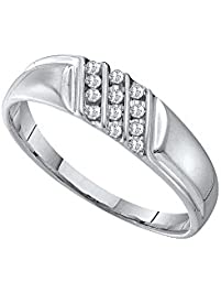 roy rose jewelry 10k white gold - Mens White Gold Wedding Rings