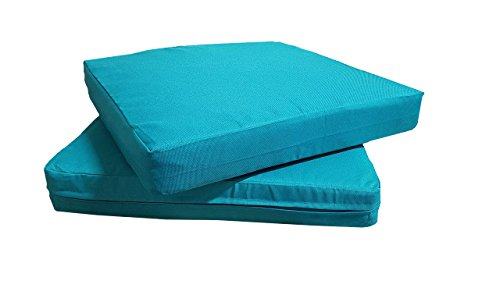 QQbed Patio Cushion Covers for Outdoor Deep Seat Lounge (20X18, Teal) ()