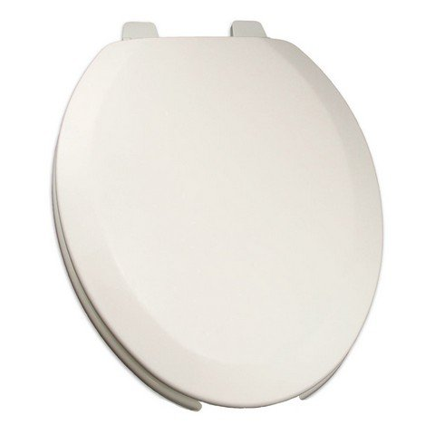 Bath Décor 1F1E4-00 Deluxe Molded Wood Elongated Toilet Seat with Adjustable Hinge, White