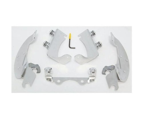 - Memphis Shades Batwing Fairing Polished Trigger-Lock Mount Kit MEK1911