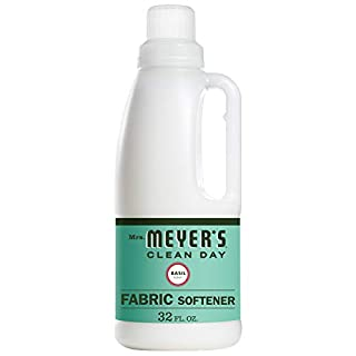 Mrs. Meyer's Clean Day Liquid Fabric Softener, Made Without Parabens, Cruelty Free Formula, Basil Scent, 32 oz
