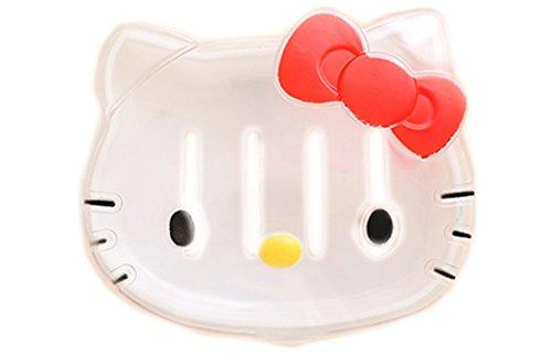 [Hellokitty Waterproof Soap Box with Lid White] (Hello Kitty Soap Dish)