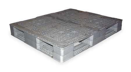 Rackable Plastic Pallet (Plastic Pallet, Rackable, 48 L X 40 W, Gray)