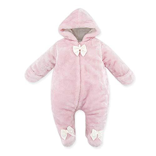 kavkas Newborn Winter Fake Fur Soft Cotton-Padded Snowsuit Plush Jumpsuit ()