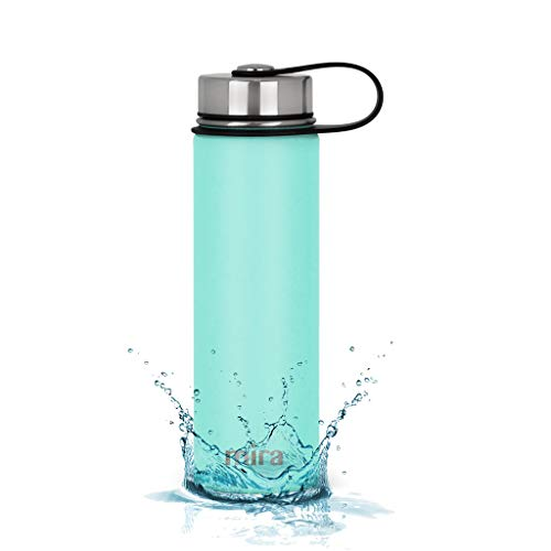 Small Thermal Metal Brush - MIRA 22 Oz Stainless Steel Vacuum Insulated Wide Mouth Water Bottle | Thermos Keeps Cold for 24 Hours, Hot for 12 Hours | Double Walled Powder Coated Travel Flask | Teal