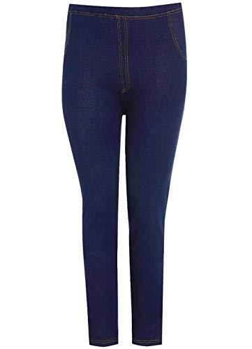 Stretchy Navy Blue Leggings Denim Islander Look Longueur Jeggings Pleine Denim S Mesdames Jeans Fashions Femmes 5XL Skinny aqYaxZE
