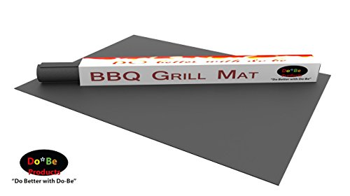 Do-Be Products Barbecue Grill Mats for BBQ Grilling on Gas or Charcoal Grills Including Weber & All Major Barbecue Brands Outdoor Deck Cooking Mat