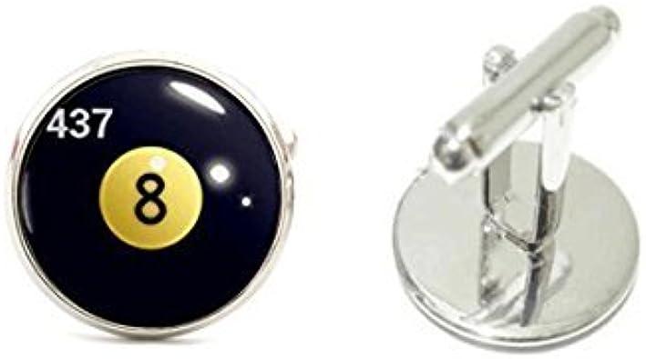 Youkeshan Gemelos de Bola de Billar, Gemelos con Diseño de 8 ...