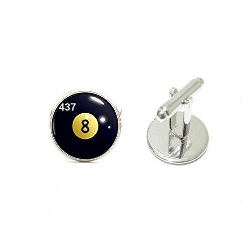 Youkeshan Gemelos de Bola de Billar, Gemelos con Diseño de 8 Bolas ...