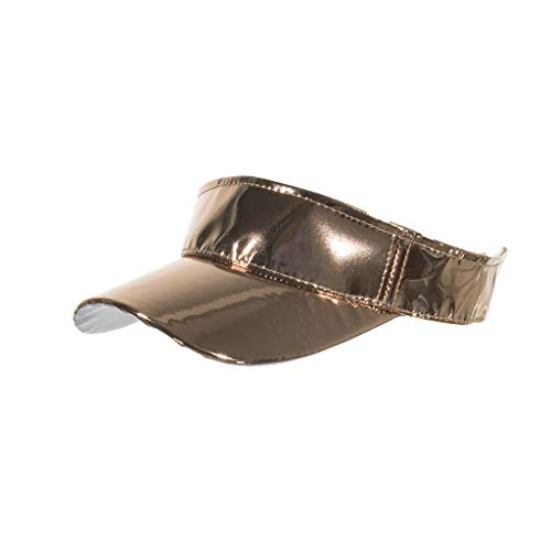 - Unisex Baseball Cap, Tuscom Adjustable PU Leather Metallic Sun Visor Cap Sun Protection Sport Hat Laser Adjustable Baseball Hat Fashion Dad Hat for Women Men (Gold)