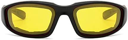 Kurphy 3 Pairs Motorcycle Sport Bike Riding Glasses Padded Windproof Sunglasses Motorcycle Windproof Glasses Sports Goggles