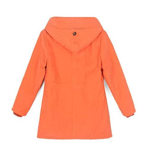 M lunghi sintetica pelliccia in Size Black da Cappotti donna antracite con cappuccio Color AqdSW7wZ