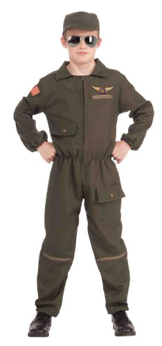 [Forum Novelties Fighter Jet Pilot Child Costume, Large] (Pilot Costumes Kids)