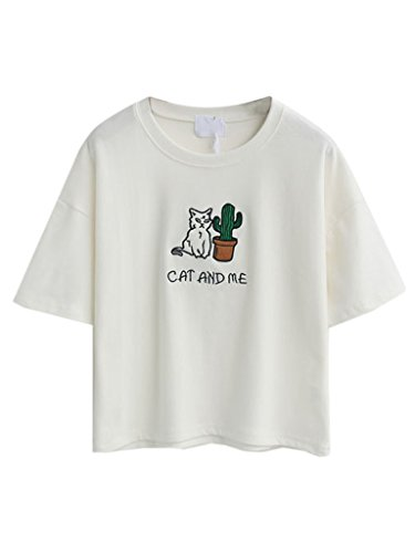 persun-white-embroidery-letter-and-cat-short-sleeves-crop-t-shirt-topone-sizewhite