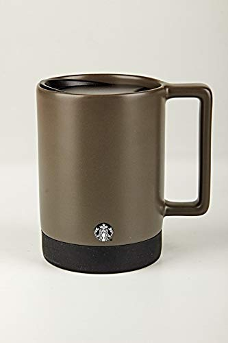 Starbucks Gray Non Slip Ceramic Mug with Lid