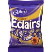 Cadbury chocolate Dulces Del Chocolate Eclairs - 12 x 180gm