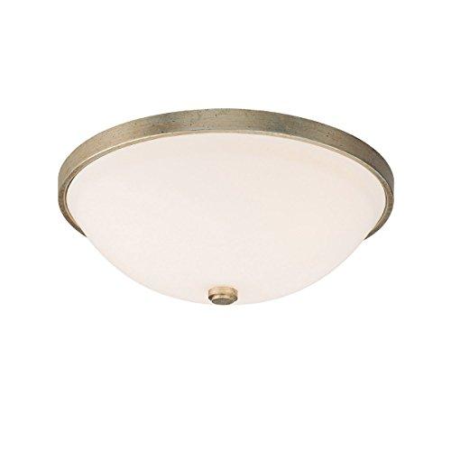 Capital Lighting 2323WG-SW Ansley 2LT Flush Mount, Winter Gold Finish and Soft White Glass Shade