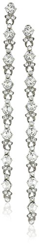 Ben-Amun Jewelry Swarovski Crystal Round Cut Long Drop Earrings for Bridal Wedding Anniversary by Ben-Amun Jewelry