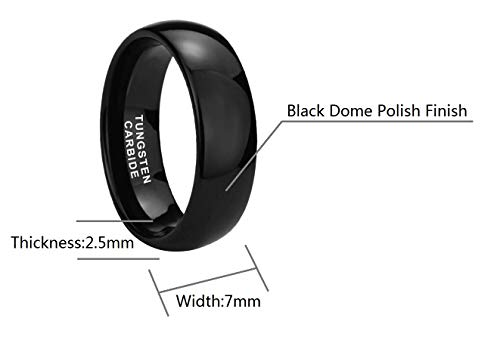Crownal 2mm 4mm 6mm 8mm 10mm Tungsten Wedding Band Ring Men Women Plain Dome Polished Size Comfort Fit Size 3 To 17