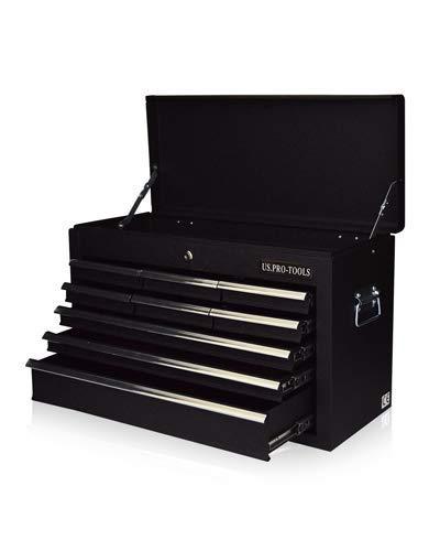 Caja de herramientas port/átil con 6 cajones deslizantes con rodamientos color negro brillante. US PRO TOOLS