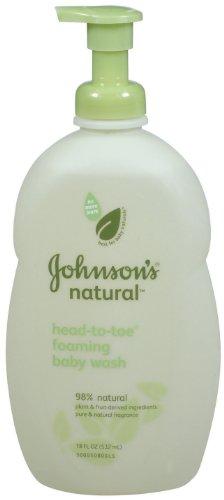 Natural Johnson Head-to-Toe Laver bébé moussant 18-Ounce
