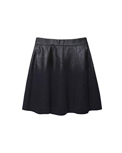 Leopard Phillip Lim 3.1 - 3.1 Phillip Lim   Black Coated Wool Skirt L