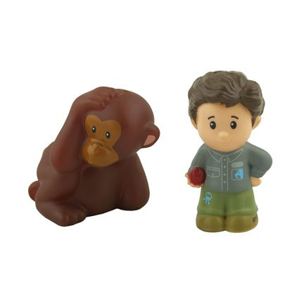 Fisher Price Little People Big Animal Zoo Replacement Figures - Zookeeper and (Fisher Price Little People Dollhouse)