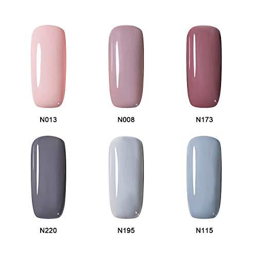 Gel Nail Polish Set - Beautlink 6 Colours Nail Art Gift Box Soak Off UV LED Gel Polish Kit 10ml