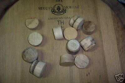 Oak wine barrel Bunghole Plug By Wine Barrel Creations by Wine Barrel Creations Inc.