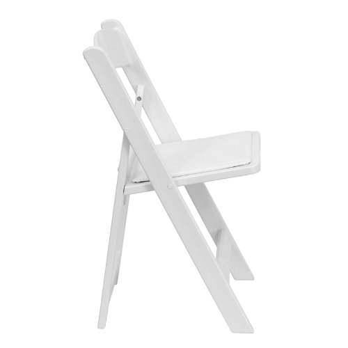 TentandTable White Resin Plastic Heavy Duty 300-Pound Capacity Stackable Folding Event, Banquet, and Wedding Chairs (2-Pack)