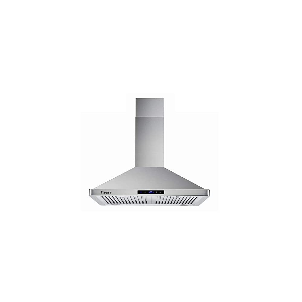 Wall Mount Range Hood 30 inch Kitchen Hood 700 CFM with Ducted/Ductless Convertible Duct, Touch Control, Permanent…