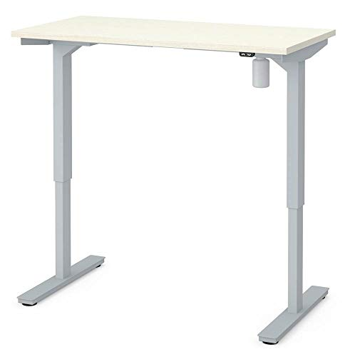 Image of Electric Height Adjustable Table in White Chocolate
