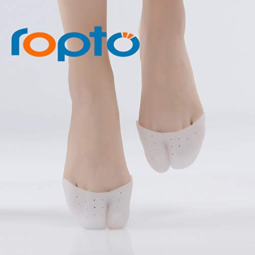 1 Pairs Gel Toe Cap Protector - Forefoot Cushioning - Big Toe Protection -Prevent Calluses and Blisters Soft Silicone Gel Pointe Ballet Dance Shoe Toe Pads Toe Protector with Breathable Hole One Size (Best Pointe Shoe Pads)