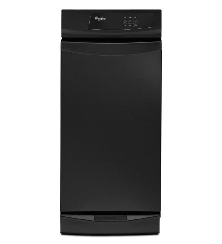 """Whirlpool GC900QPPB 15"""" Black Built-In Full Console Trash Compactor"""