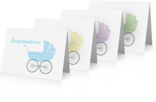 New Baby Congratulations Greeting Cards (12 Foldover Cards and Envelopes) New Baby Cards (New Baby Congratulations)