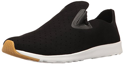 Moc Natural (Native Men's Apollo Moc Sneaker, Jiffy Black/Shell White/Natural Rubber, 4 Men's M US)