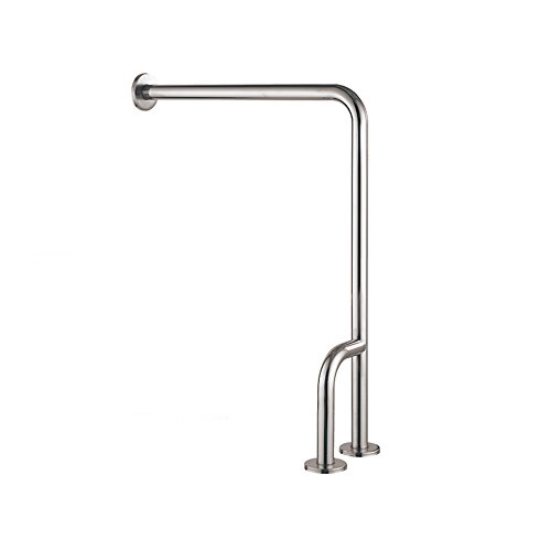 XSJZ Bathroom Handrails/Stainless Steel Floor-Standing Grab Rails/Toilet Safety Barrier-Free Armrest/Toilet Elderly H-Shaped Support Grab Bar Handrail Frame (Color : A)