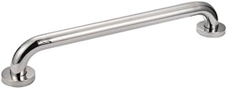 uxcell シャワーグラブバー グリップ ハンドル お?? 201ステンレススチール 500mm長さ 32mm径 ポリッシュ タオルバー