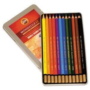 - Chartpak/Pickett Mondeluz Aquarelle Colored Pencils, Assorted