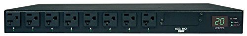 Tripp Lite Metered PDU with ATS, 20A, 16 Outlets (5-15/20R), 120V, 2 L5-20P / 5-20P adapters, 1U Rack-Mount Power, TAA (PDUMH20AT)
