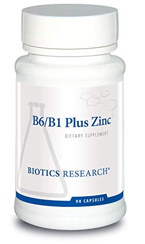 Biotics Research B6/B1 Plus Zinc -Supplies Active Forms of B Vitamins. 5mg of Highly bioavailable Form of zinc. Aids in Activity of Over 300 Different zinc-Dependent enzymes 90 Caps