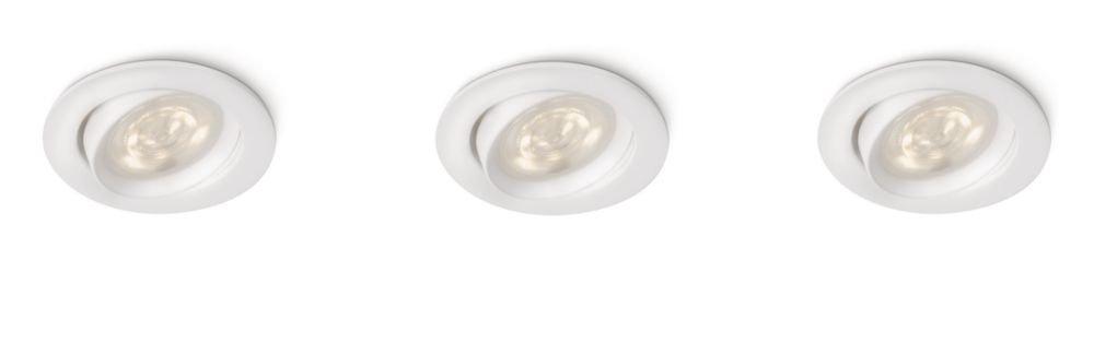 Philips Smart Spots Ellipse LED Einbauspot, 3-flammig, weiß 590303116