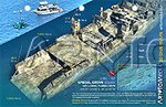 Price comparison product image Reef Site Card - Spiegel Grove Stern, Key Largo, Florida