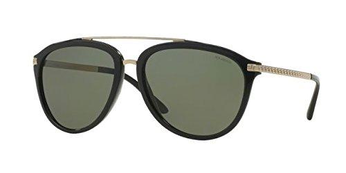 21d4ab995ea Versace Womens VE4275-GB1  87-58 Black Square Sunglasses MOD.4275SUN  GB1   87-58