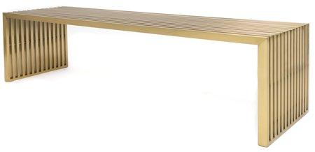 Maya Steel Bench in Brushed Brass