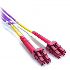 2m LC/LC 40/100GB Duplex 50/125 Multimode OM4 Fiber Patch Cable Violet by LinkCable
