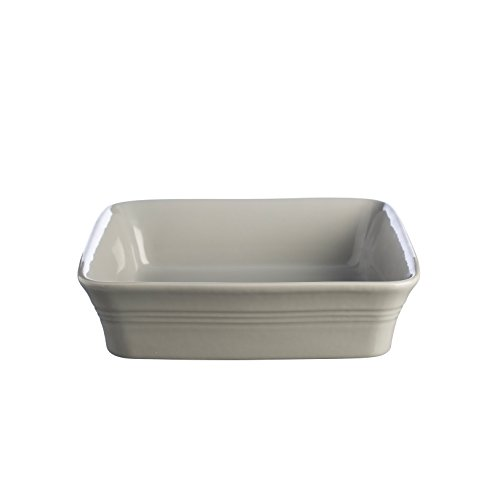 Mason Cash Classic Kitchen Square Baking Dish,10-1/4-Inches, Grey