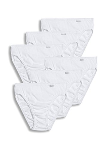 (Jockey Women's Underwear Elance French Cut - 6 Pack, White, 7)