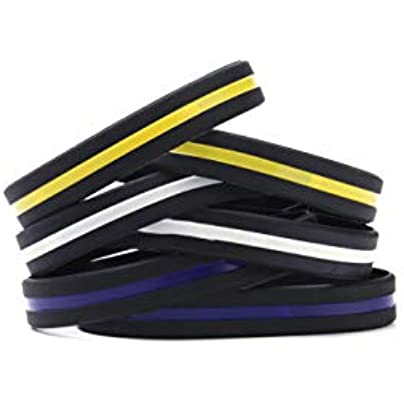 MoMolly 6Pcs Silicone Wristbands Rubber Bracelets Adult Sports Bands for Woman Men Assorted Estimated Price £18.56 -